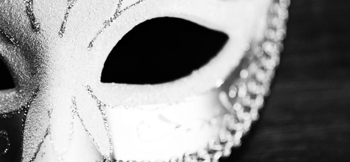 Masquerade mask isolated